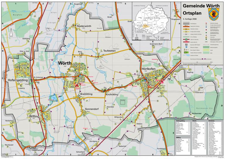 Gemeinde Wörth | Ortsplan